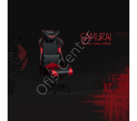 Samurai Oyuncu Koltuk Kırmızı&Siyah